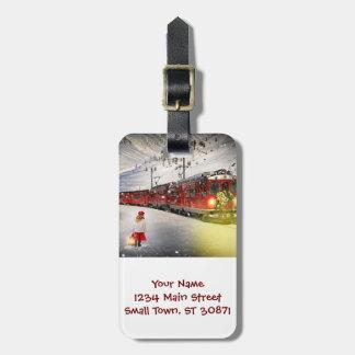 Étiquette À Bagage Express de Pôle Nord - train de Noël - train de