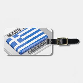 Étiquette À Bagage Fait dans l'insigne de la Grèce