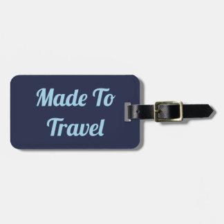 Étiquette À Bagage Fait pour voyager étiquette de bagage