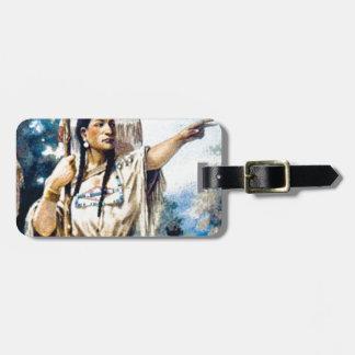Étiquette À Bagage femme indienne de squaw
