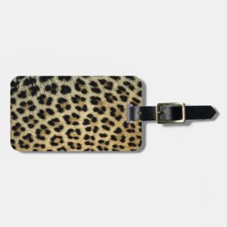 Étiquette À Bagage Fermez-vous des taches de léopard, Afrique