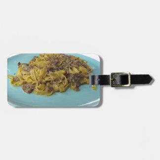 Étiquette À Bagage Fettuccine ou pâtes frais italien de tagliatelle