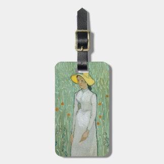 Étiquette À Bagage Fille de Vincent van Gogh | dans le blanc, 1890