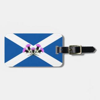 Étiquette À Bagage Fleur de chardon de l'Ecosse/emblème drapeau de St