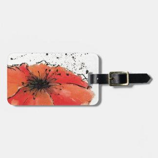 Étiquette À Bagage Fleur en pleine floraison