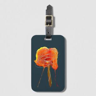 Étiquette À Bagage Fleur florale à griffes Abstraites art moderne