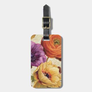 Étiquette À Bagage Floral en pleine floraison
