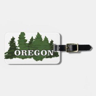 Étiquette À Bagage Forêt de l'Orégon