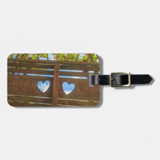 Étiquette À Bagage Forme de coeur dans une barrière, Belize