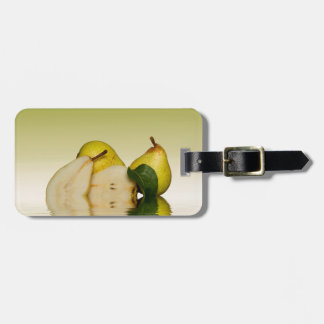Étiquette À Bagage Fruit vert frais de poires