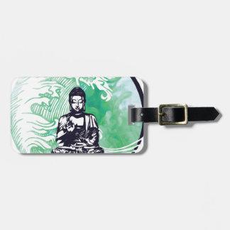 Étiquette À Bagage Fumée d'émeraude de vague de Bouddha d'ouragan