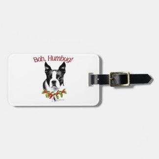 Étiquette À Bagage Fumisterie de Boston Terrier Bah