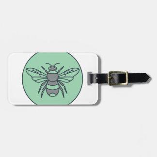 Étiquette À Bagage Gaffez la ligne mono de cercle d'abeille