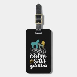 Étiquette À Bagage Gardez l'activiste d'animal de faune de gorilles