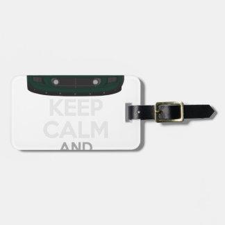 Étiquette À Bagage Gardez le calme et conduisez-LE - morue. ExigeS1