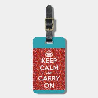 Étiquette À Bagage Gardez le calme et continuez rétro