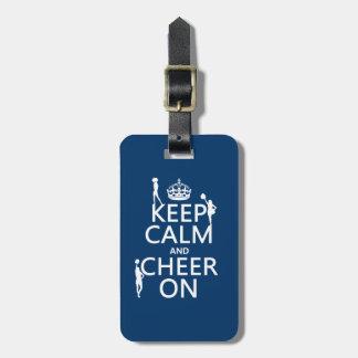 Étiquette À Bagage Gardez le calme et l'encouragez sur (majorettes)