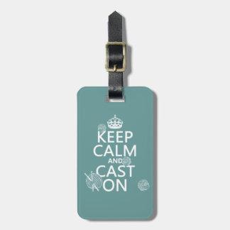 Étiquette À Bagage Gardez le calme et moulez dessus - toutes les