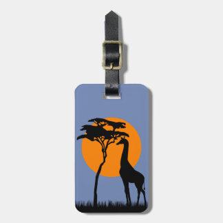 Étiquette À Bagage Girafe