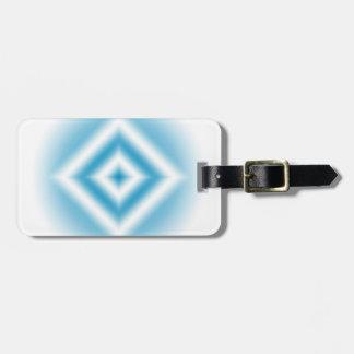 Étiquette À Bagage gradient bleu de diamant de Personnaliser-ciel