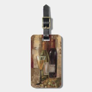 Étiquette À Bagage Graffiti et vin