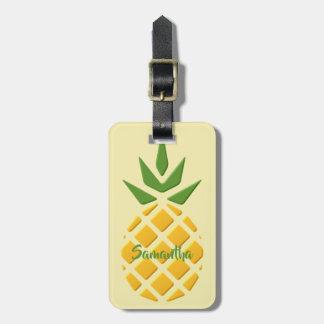 Étiquette À Bagage Grand ananas 3D