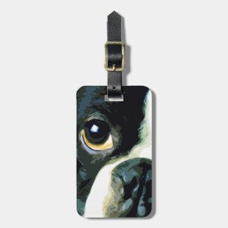 Étiquette À Bagage grand Boston moderne Terrier