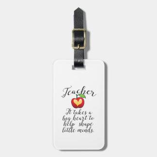 Étiquette À Bagage Grand coeur à aider à former le petit professeur