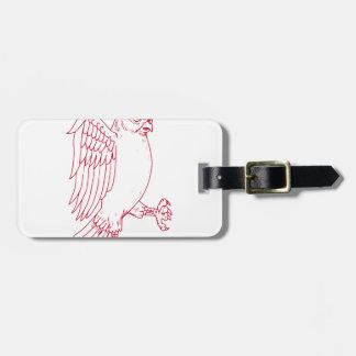 Étiquette À Bagage Grand dessin de marche de hibou à cornes