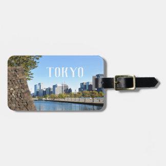 Étiquette À Bagage Gratte-ciel à Tokyo, Japon