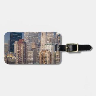 Étiquette À Bagage Gratte-ciel de Manhattan le Hudson d'horizon de