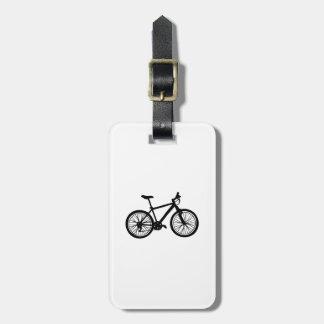Étiquette À Bagage Griffonnage tiré par la main simple de bicyclette