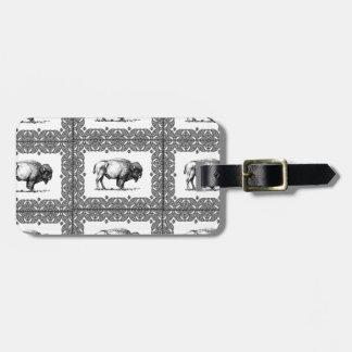 Étiquette À Bagage groupes de bison
