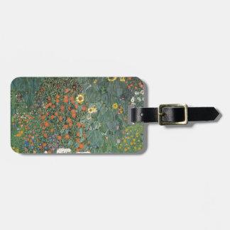 Étiquette À Bagage Gustav Klimt - fleurs de tournesols de jardin de