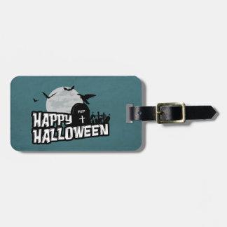Étiquette À Bagage Halloween heureux