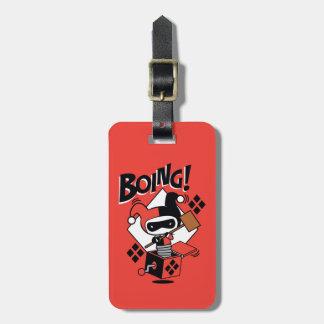 Étiquette À Bagage Harley-Quinn-Dans-UN-Box de Chibi avec le marteau