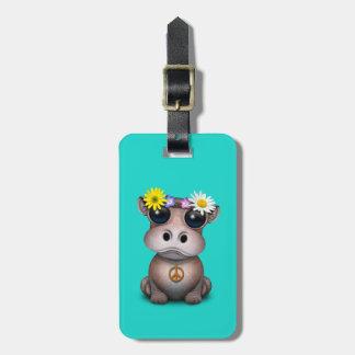 Étiquette À Bagage Hippie mignonne d'hippopotame de bébé