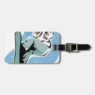 Étiquette À Bagage Homme frais de snowboarding