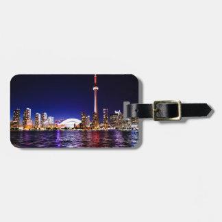 Étiquette À Bagage Horizon de nuit de Toronto
