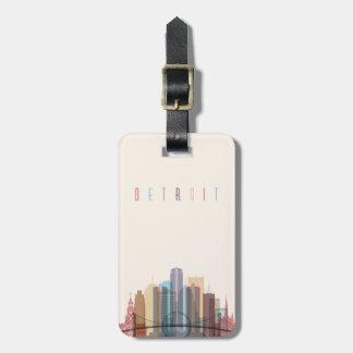 Étiquette À Bagage Horizon de ville de Detroit, Michigan |