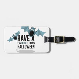 Étiquette À Bagage Huez la conception de Halloween de battes