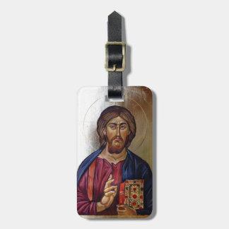 Étiquette À Bagage Icône bizantine du Christ Pantocrator
