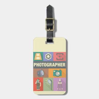 Étiquette À Bagage Iconique professionnel de photographe conçu