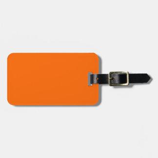 Étiquette À Bagage Identification facile orange de flamme de