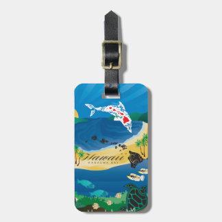 Étiquette À Bagage Îles d'Hawaï de baie de Hanauma