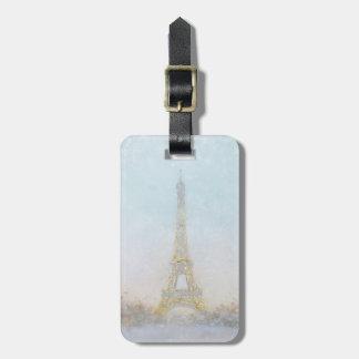 Étiquette À Bagage Image de l'aquarelle   d'Eiffel Towe