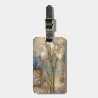 Étiquette À Bagage Iris et tuile