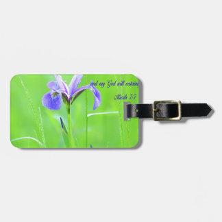 Étiquette À Bagage Iris pourpre