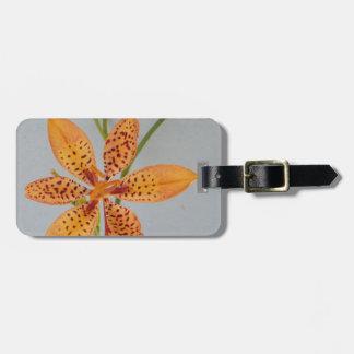 Étiquette À Bagage Iris repéré par orange appelé un lis de Blackberry