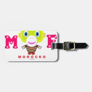Étiquette À Bagage Je depuis 2017 - Singe-Morocko mignon